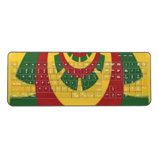 Create Your Own Red Gold and Green  I love You Wireless Keyboard