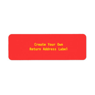 Create Your Own Red Return Address Label