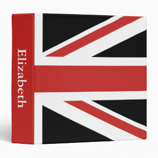 Create Your Own Red Union Jack 3 Ring Binder