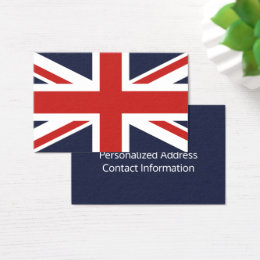 Create Your Own Red Union Jack Business Card