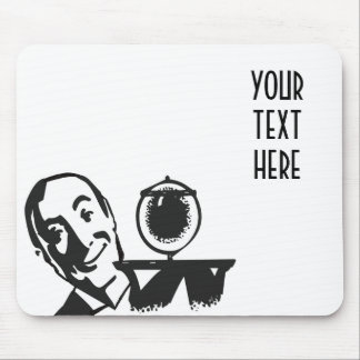 CREATE YOUR OWN RETRO BUTLER GIFTS MOUSE PAD