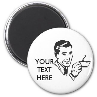 CREATE YOUR OWN RETRO COFFEE MAN GIFTS 2 INCH ROUND MAGNET