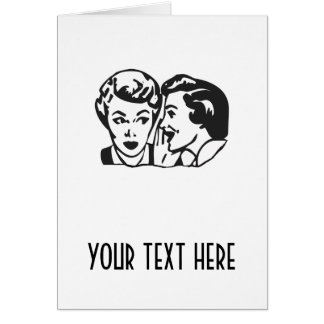 CREATE YOUR OWN RETRO GOSSIP LADY GIFTS CARD
