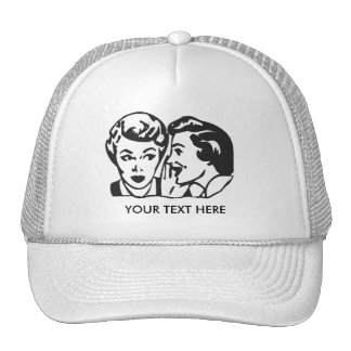 CREATE YOUR OWN RETRO GOSSIP LADY GIFTS TRUCKER HATS