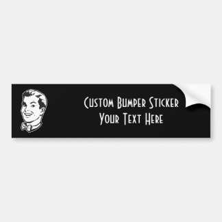 CREATE YOUR OWN RETRO GUY BOW TIE GIFTS CAR BUMPER STICKER