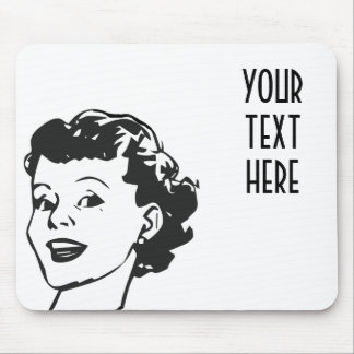 CREATE YOUR OWN RETRO HAPPY WOMAN GIFTS MOUSE PAD