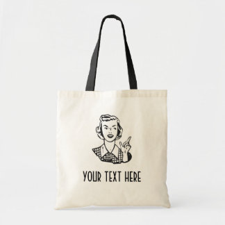 CREATE YOUR OWN RETRO MAD HOUSEWIFE GIFTS TOTE BAGS