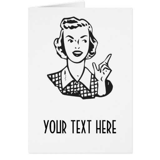 CREATE YOUR OWN RETRO MAD HOUSEWIFE GIFTS GREETING CARDS