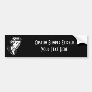 CREATE YOUR OWN RETRO MOM SCOLDING GIFTS CAR BUMPER STICKER