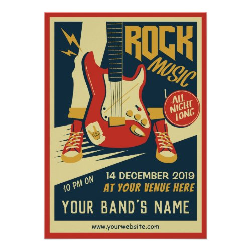 Create your own Retro Rock music poster