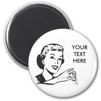 CREATE YOUR OWN RETRO SALT LADY GIFTS 2 INCH ROUND MAGNET