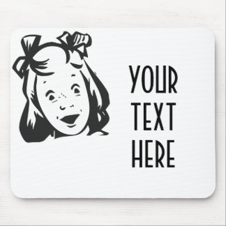 CREATE YOUR OWN RETRO SURPRISED GIRL GIFTS MOUSE PAD