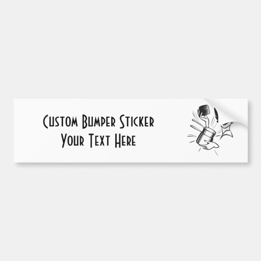 CREATE YOUR OWN RETRO SURPRISED LADY GIFTS CAR BUMPER STICKER