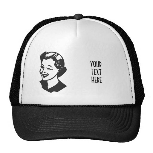 CREATE YOUR OWN RETRO WINK LADY GIFTS TRUCKER HAT