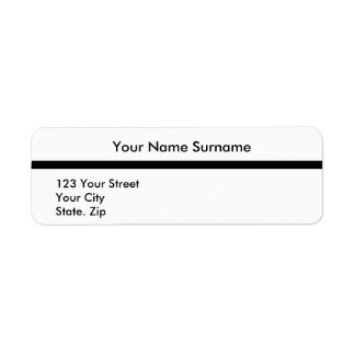 Create Your Own Return Address 16 Label