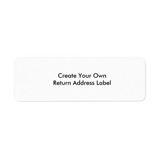 Create Your Own Return Address Label Zazzle