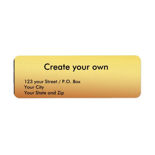 Create Your Own Return Gold Address Label Zazzle