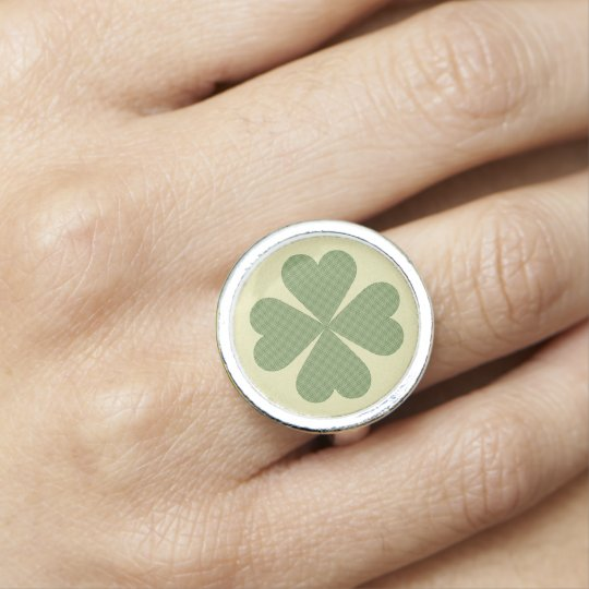 Design Your Own Ring: Create Your Own Ring Green Gold Four Leaf Clover