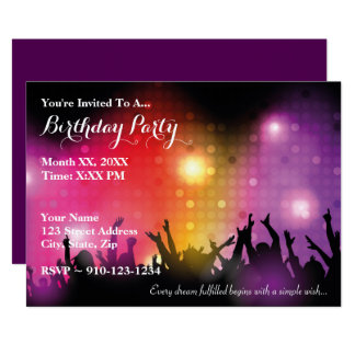 Create Your Own Rock Birthday Party Invitation