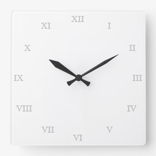 Create Your Own Roman Numerals Blank Template Square Wall