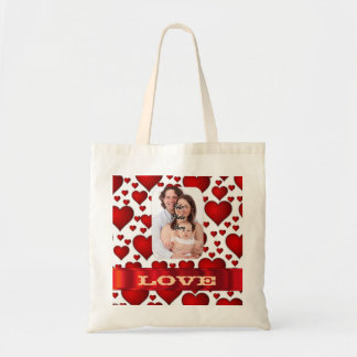 Create your own romantic valentines tote bag