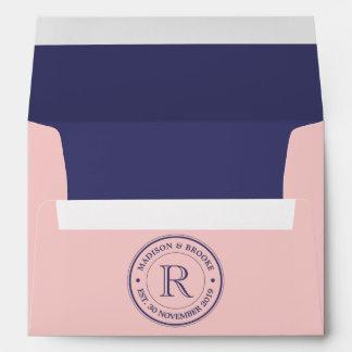 Create Your Own Rose Quartz Pink Logo Monogram Envelope