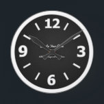 """Create Your Own Round Clock<br><div class=""""desc"""">Create your own personalized product using one of your own images,  designs,  or text. Replace the &quot;create your own&quot; picture with one of your own for a custom product! It&#39;s the perfect gift for anyone.</div>"""