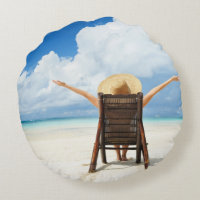 Create Your Own Round Photo Pillow