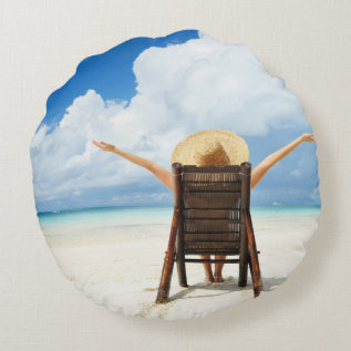 Create Your Own Round Photo Pillow at Zazzle