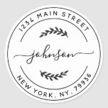 """Create Your Own Round Return Address Classic Round Sticker<br><div class=""""desc"""">Create Your Own Round Return Address</div>"""