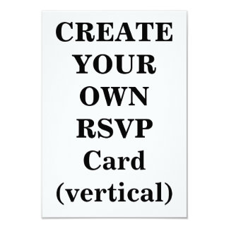 Create Your Own RSVP Card (vertical) Invites