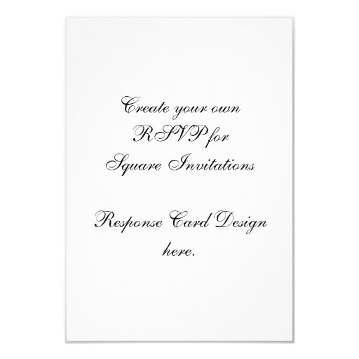 Create Your Own RSVP Cards for Square Invites