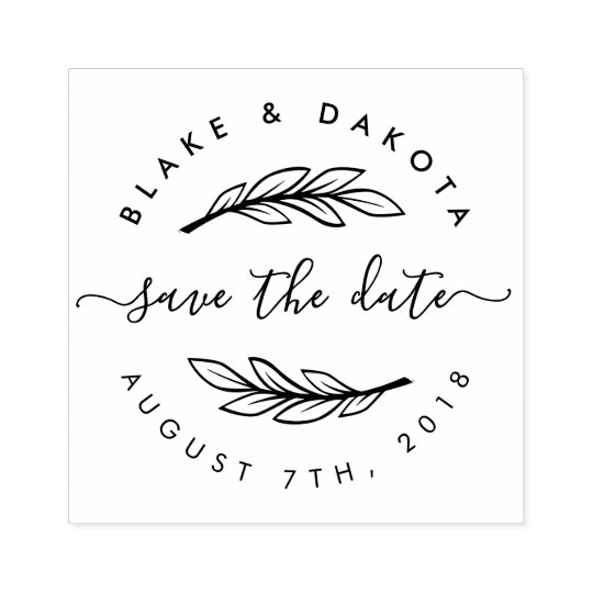 Save the date stamp   etsy.
