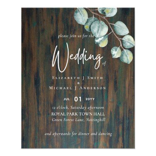 Create Your Own RUSTIC Eucalyptus Wedding Flyer