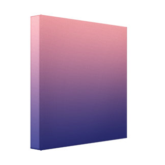 Create your own | salmon pink to blue gradient canvas print