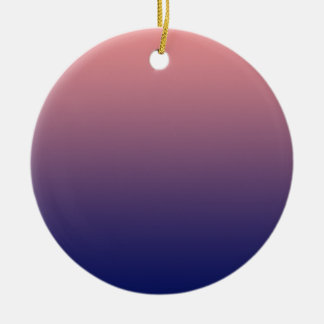 Create your own | salmon pink to blue gradient ceramic ornament