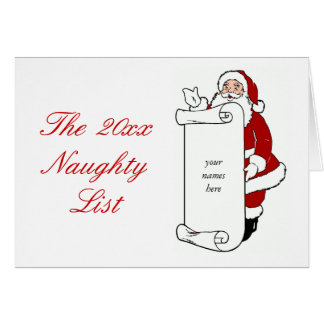 Create Your Own Santa's Naughty List Holiday Card