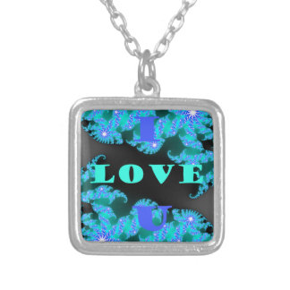 Create Your Own Save The Date I Love You Silver Plated Necklace