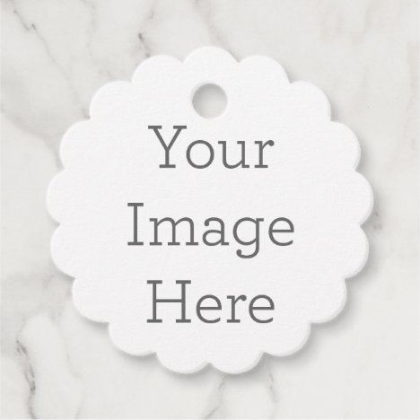 Create Your Own Scalloped Favor Tags