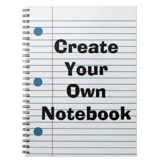 Create Your Own School Paper Cute Notebook
