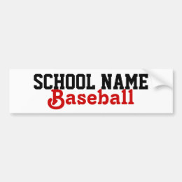 Create your own School Sport Bumpersticker Bumper Sticker