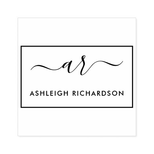 Design Your Own Rubber Stamp: Create Your Own Script Initials & Custom Name Rubber Stamp