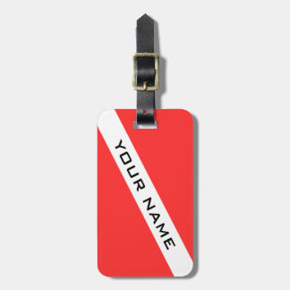Create your own SCUBA DIVER NAME LUGGAGE TAG