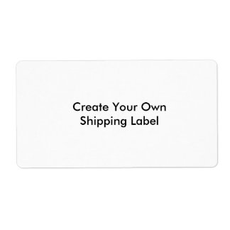 Create Your Own Shipping Label