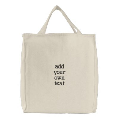 create your own shirt embroidered tote bag