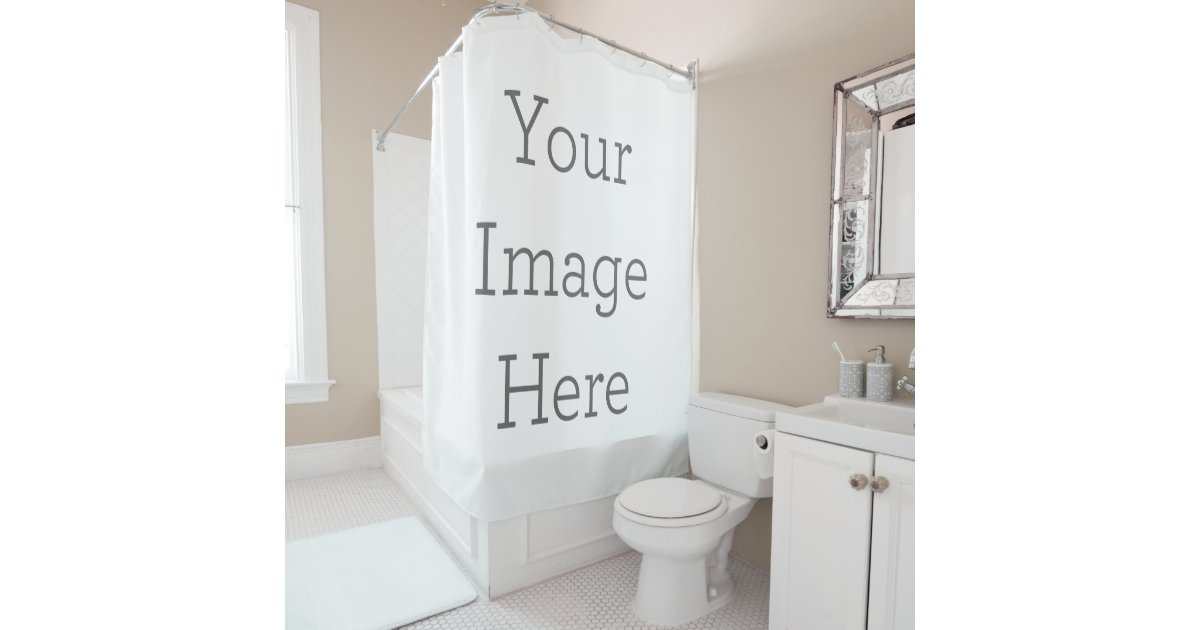 Create Your Own Shower Curtain Zazzlecom