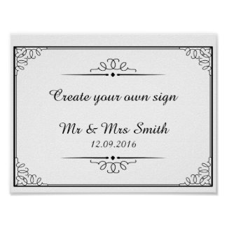 Create your own sign with this template poster