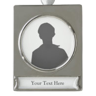 Create Your Own Silver Plated Banner Ornament