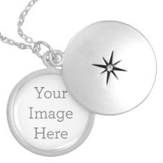 Create Your Own Silver Plated Locket at Zazzle