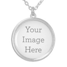 Create Your Own Silver Plated Round Necklace at Zazzle